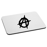 Anarchy Symbol Outline Mouse Pad