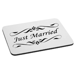Just Married Bride Groom Wedding Mouse Pad