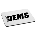 Funny Humping Stick Figure F*ck Democrats Mouse Pad