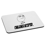 Meme Face Challenge Accepted Funny Mouse Pad