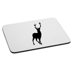 Hunting Deer Buck Silhouette Mouse Pad