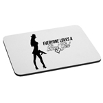 Everyone Loves a Bad Girl Gangster Mouse Pad