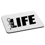 Funny Humping Stick Figure F*ck Life Mouse Pad