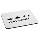 Army Family Military Silhouette Mouse Pad