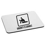 Funny Stick Figures Virginity is Curable Mouse Pad
