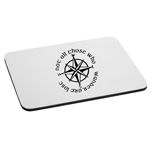Not All Those Who Wander Are Lost LOTR Compass Mouse Pad