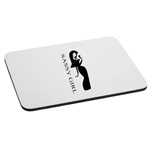 Sassy Girl Silhouette Mouse Pad
