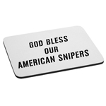 God Bless Our American Snipers Patriotic Mouse Pad