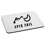 Funny Epic Wheelchair Fail Mouse Pad