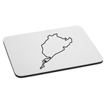 Nürburgring Track Map Auto Racing Mouse Pad