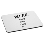 Wife Funny Washing Ironing F*cking Etc. Husband Mouse Pad