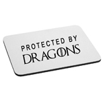 Protected By Dragons Mouse Pad
