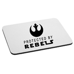Protected By Rebels Alliance Mouse Pad
