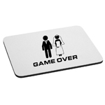 Funny Bride Groom Married Game Over Mouse Pad