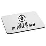 Sniper Target Shooting Firearm This is My Peace Symbol Funny Mouse Pad