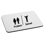 Problem Solved Funny Couple Single Man Mouse Pad