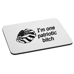I'm One Patriotic Bitch Funny American Flag Lips Mouse Pad