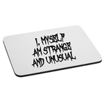 I Myself Am Strange and Unusual Halloween Beetle Juice Inspired Mouse Pad