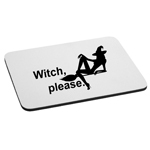 Funny Sexy Witch Silhouette Witch Please Mouse Pad