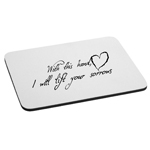 With This Hand I Will Lift Your Sorrows Love Mouse Pad