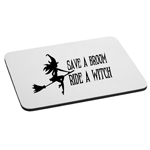 Save a Broom Ride a Witch Funny Sexy Silhouette Mouse Pad