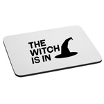 The Witch is in Hat Funny Halloween Mouse Pad