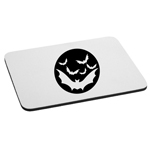 Bats Flying in Moon Spooky Halloween Mouse Pad