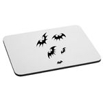Flying Bats Silhouette Halloween Mouse Pad