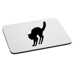 Scared Cat Silhouette Spooky Halloween Mouse Pad