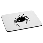 Smiling Spider Cartoon Funny Halloween Mouse Pad