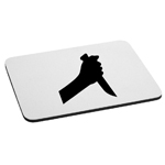 Spooky Hand Knife Silhouette Slasher Mouse Pad