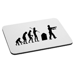 Evolution of the Zombie Walker Silhouette Spooky Mouse Pad