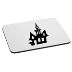 Haunted House Silhouette Spooky Halloween Mouse Pad
