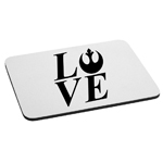 I Love Rebel Alliance Mouse Pad