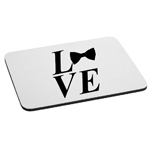 I Love Bow Ties Mouse Pad