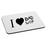 I Love Bad Wolf Mouse Pad