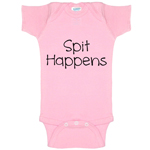 Spit Happens Funny Baby Bodysuit Infant