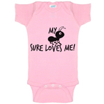 My Aunt Sure Loves Me Funny Baby Bodysuit Infant