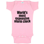 World's Most Expensive Alarm Clock Funny Baby Bodysuit Infant
