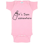 It's 5 AM Somewhere Parody Funny Baby Bodysuit Infant