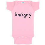 Hangry Hungry Funny Baby Bodysuit Infant