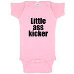 Little Ass Kicker Funny Baby Bodysuit Infant