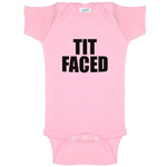 Tit Faced Boobs Funny Baby Bodysuit Infant