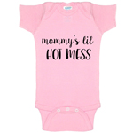 Mommy's Lil Hot Mess Funny Baby Bodysuit Infant