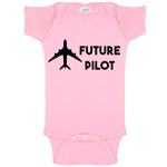 Future Pilot Funny Baby Bodysuit Infant