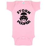Storm Pooper Storm Trooper Star Wars Parody Funny Baby Bodysuit Infant