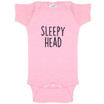 Sleepy Head Funny Baby Bodysuit Infant