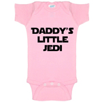 Daddy's Little Jedi Funny Baby Bodysuit Infant
