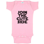 Join The Cute Side Star Wars Parody Funny Baby Bodysuit Infant