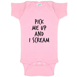 Pick Me Up And I Scream Funny Baby Bodysuit Infant
